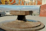 The eternal flame at Zaisan Memorial, no longer burning after the Soviet Union's collapse