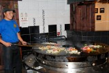Cooking at BD's Mongolian Grill, the only American franchise in Ulaanbaatar