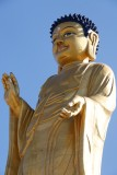 Buddha statute in a park near the Zaisan Memorial