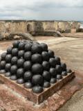 Cannonballs at Castillo de San Cristobal