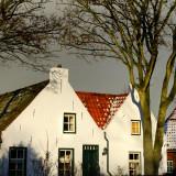 January sun on old houses