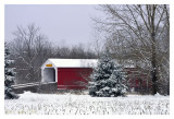 First Snowfall on Moods Covered Bridge