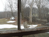 view out front window towards road
