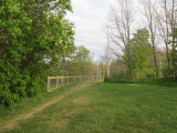Dog fence in progress - as of May 15