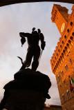 Piazza della Signora, Cellini's Perseus and Palazzo Vecchio