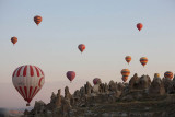 Take off in front of Goreme Open Air Museum