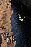 High jump at Las Gretas, Santa Cruz Island