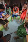 Fish foot massage, Siem Reap