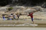 Sliding at Tidal River, Wilsons Promontory N P