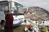 Leaving Ganden Monastery