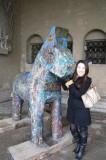 Emily and Dala horse