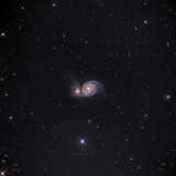 THIS IS M51 WHIRLPOOL GALAXY-CAN YOU SEE THE SPIRAL ARMS