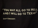 DAVY CROCKETT'S TRAVEL ADVICE IS SEEN OFTEN IN TEXAS