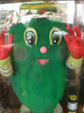THIS GIANT PICKLE GREETS YOU AT THE FRONT OF RUSTLIN' ROB'S