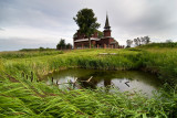 St. John the Divine wooden church on Ishna river.