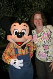 Mickey and Ang at Garden Grill Restaurant at EPCOT