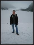 Liz at the Mendenhall Glacier ©  Liz Stanley