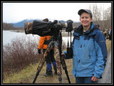 First day of shooting at Chilkat River ©  Liz Stanley