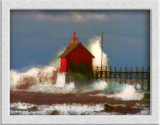 lighthouse and waves...