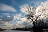 Beautiful Sky Over Warsaw