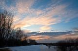 Winter Sunset Near Bug River