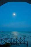 Moon Over Low Tide Ocean