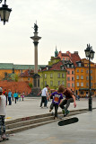 Skateboarders On Royal Castle Square
