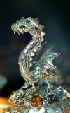 Silver Dragon With Amber