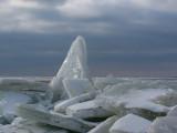 drift-ice piling up - kruiend ijs