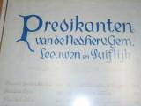 Boven Leeuwen, NH kerk predikantenbord, 2007