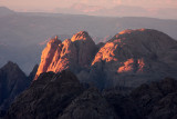 In the setting sun, Mt Sinai