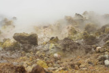 Vulcanic terrain near the crater