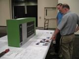 Modelers Admiring John Kohlberg's Spart District CTC Board