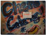 a graffito and a warning sign...