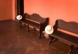 Hats belonging to guides at Santa Catalina monastery.