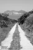 A down-hill path