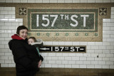 Nicole and Ethan At Our Subway Stop