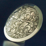 Large Sterling Oval Buckle No. 5