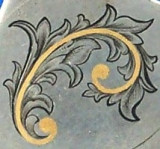 Gold Inlaid Scroll Practice