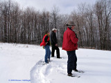 Peter, Anni and Michael, Snowshoeing