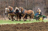 Plowing with a team of horses