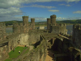 Conwy Castle,interior looking east.