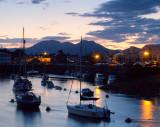 Porthmadog harbour at dawn