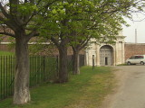 Trees line the approach to Tilbury Fort,main gateway.