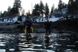 Phil and Claire going in for the drift @ Deer.. Claire's 100th dive!!