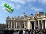 Vatican City with Green Balloons