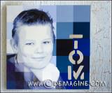 Digital Tom (painting & print 80x80cm)