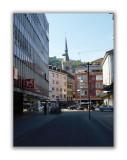 Vue sur la vieille ville depuis la rue de Nidau