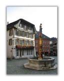 Place du Bourg. Fontaine de la Justice