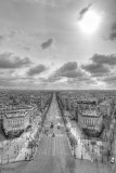 Champs Elysees Paris BW